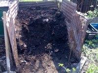 Моя компостная яма (куча)